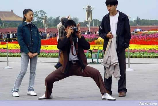 005 - chinese man's photo shooting style