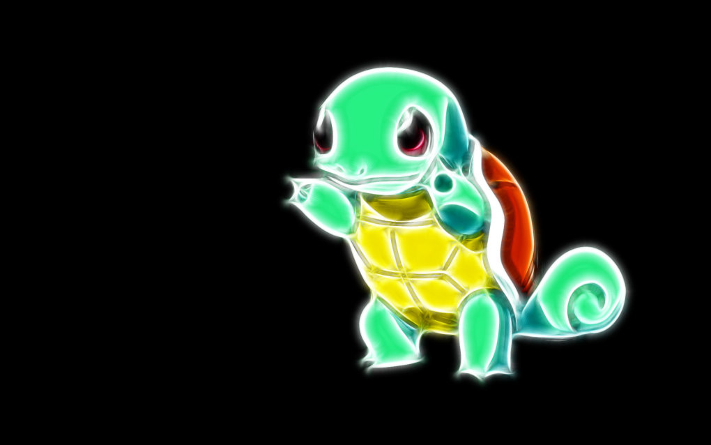 007 squirtle 1 - fractal pokemon wallpapers