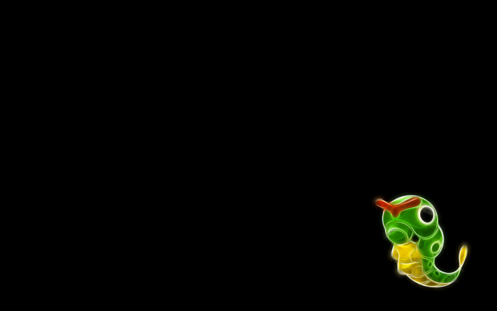 010 caterpie - fractal pokemon wallpapers