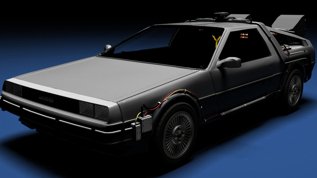found delorean model rendered out makes nice wallpaper