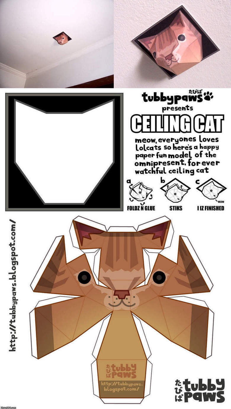08dff0be ceilingcatbouwdoos0 - make you own ceiling cat!!!