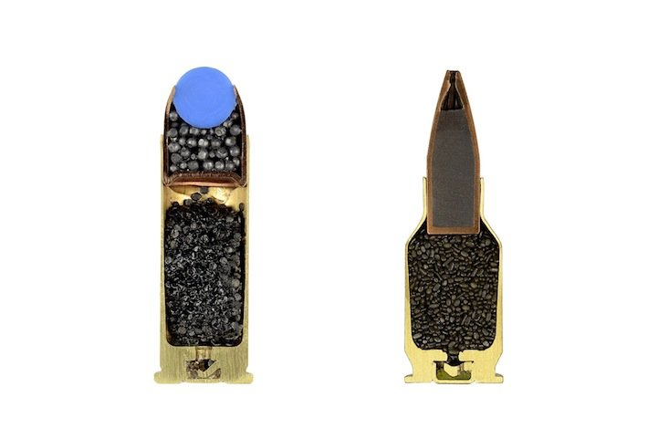 0xcbspq - bullets split in half and photographed by sabine pearlman