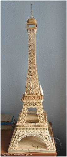 1 - eiffel tower made of matches