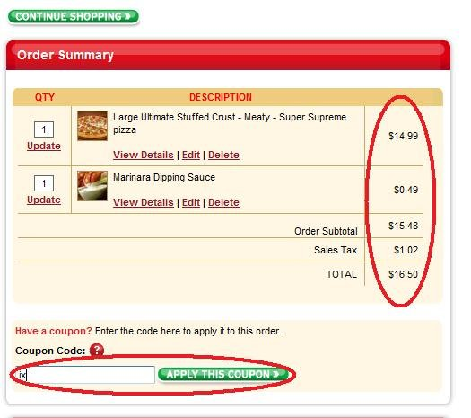 1 - the hidden pizza hut coupon