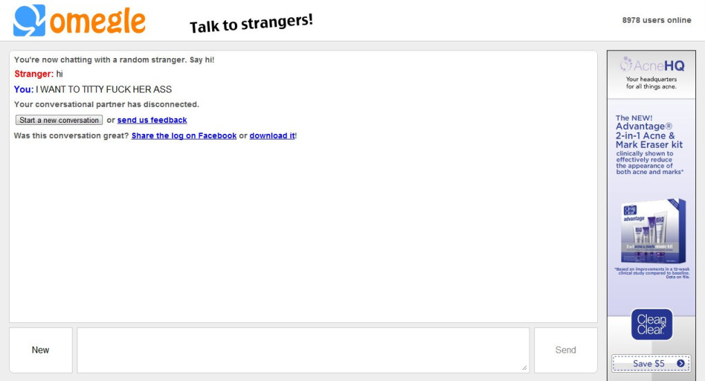 1 - why do i have such a hard time on omegle??