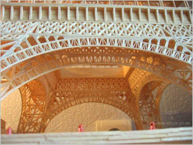 10 - eiffel tower made of matches