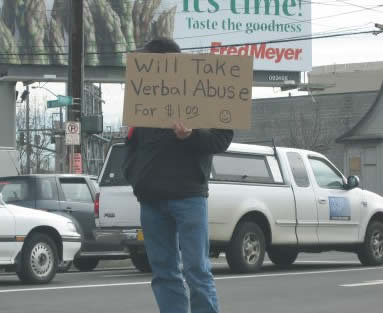 10 - homeless people with funny signs