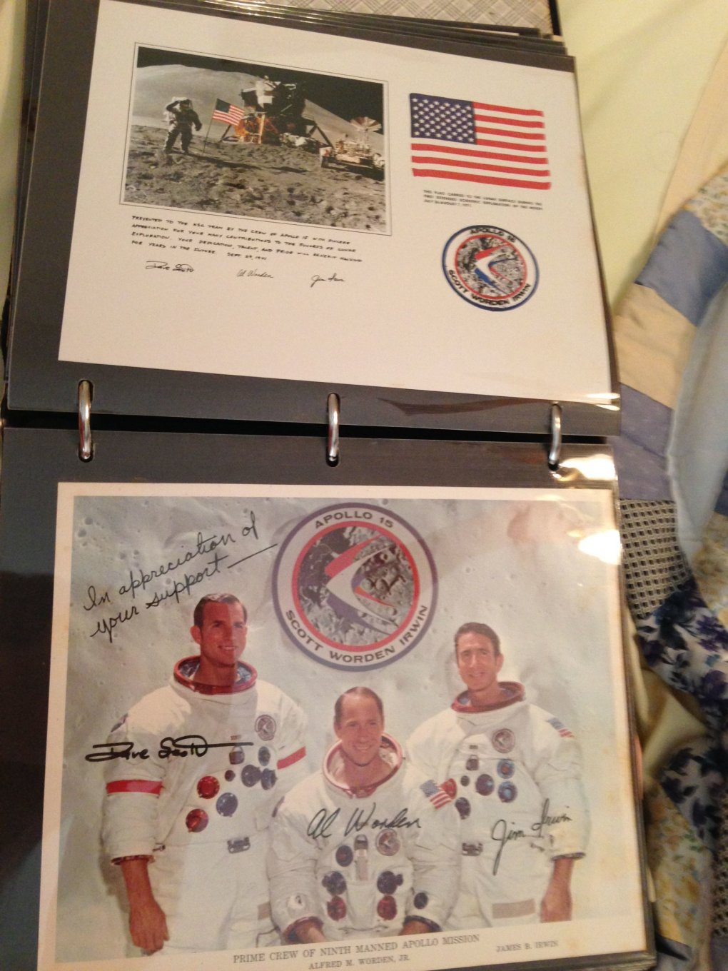 10 tuj11et - guy went through his grandfathers stuff and stumbled upon a binder with all of his nasa stuff
