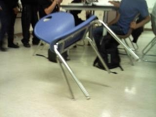 1026101329a - having fun with chairs in physics class