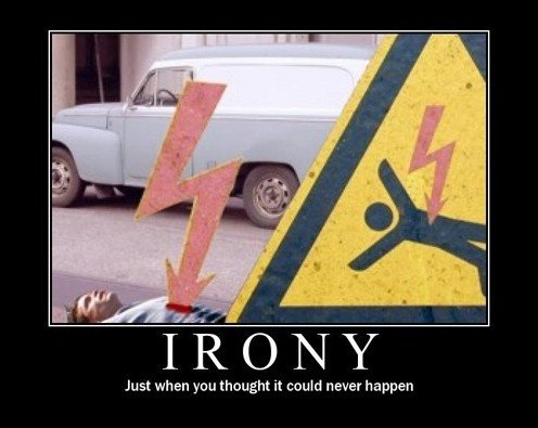 106812 - irony at its best