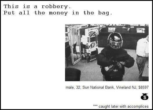 11 - demand notes from real bank robbers