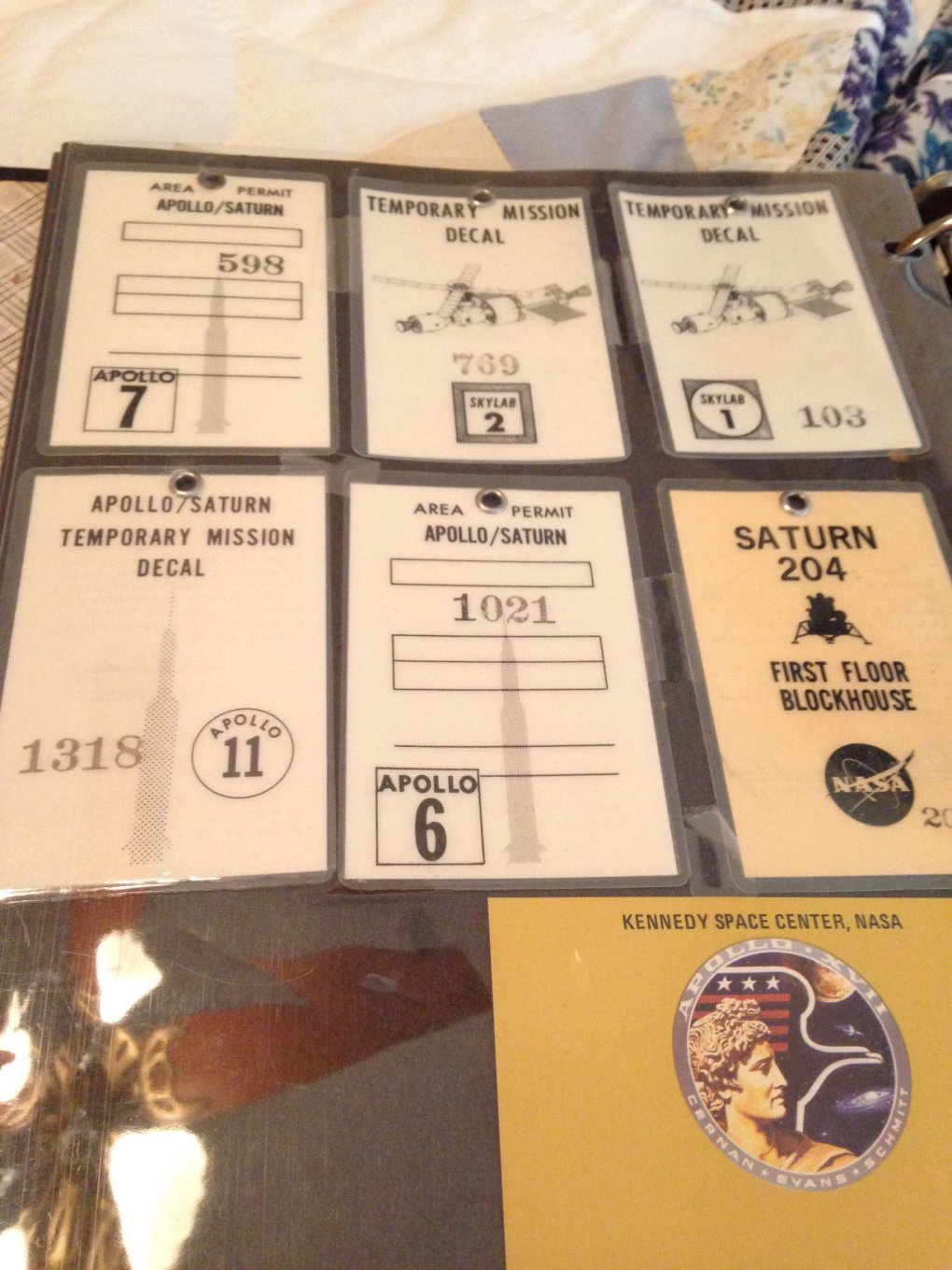 11 c9de59v - guy went through his grandfathers stuff and stumbled upon a binder with all of his nasa stuff