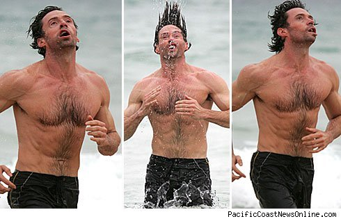 1117 hugh jackman pcn1 - Hugh Jackman Makes Epic WTFaces at the Beach