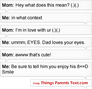 when parents text sms message iphone