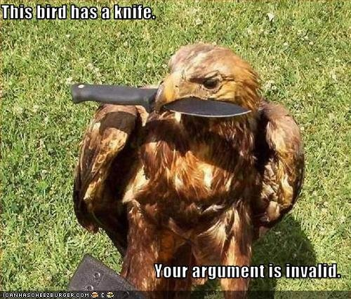 129041432838545024 - your argument is invalid