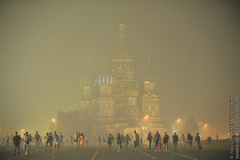 142313338 - burning moscow photos from twitter users
