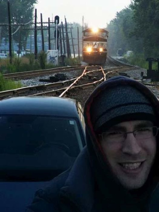 15 - poorly timed selfies...