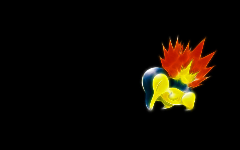 155 cyndaquil - fractal pokemon wallpapers
