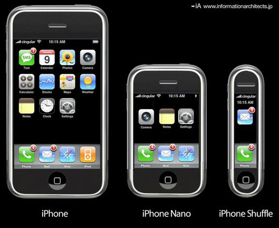 156487 iphonenano1 - the evolution of the iphone