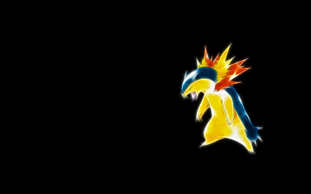 157 typhlosion - fractal pokemon wallpapers