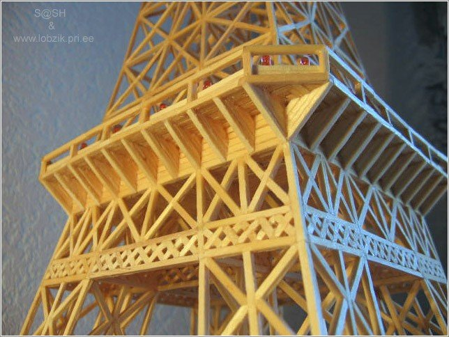 18 - eiffel tower made of matches