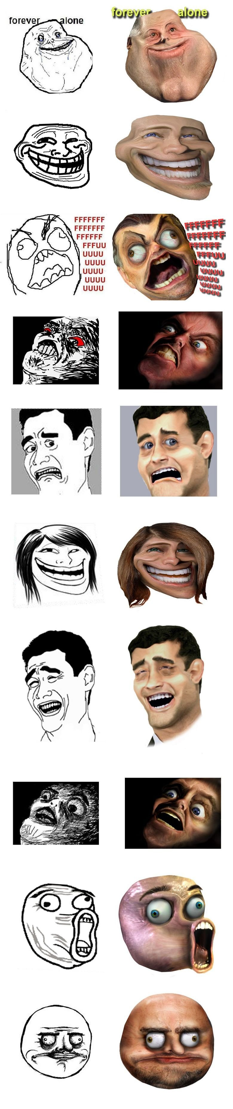 Memes Faces Real