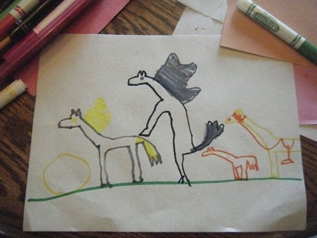 1 19 - 20 bizarre pictures drawn by little kids