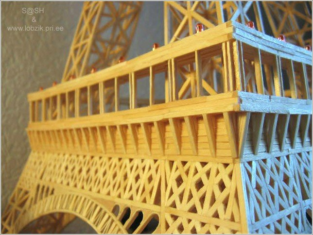 20 - eiffel tower made of matches