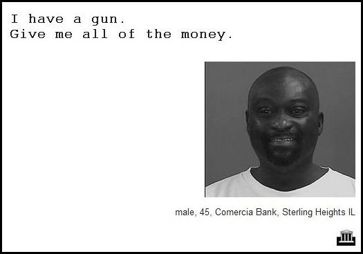 21 - demand notes from real bank robbers