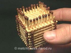21 - house made from matches