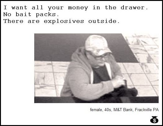 22 - demand notes from real bank robbers