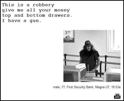 23 - demand notes from real bank robbers