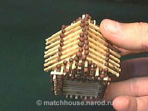 24 - house made from matches