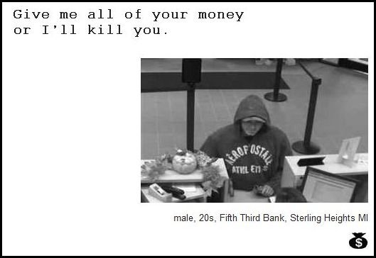 26 - demand notes from real bank robbers