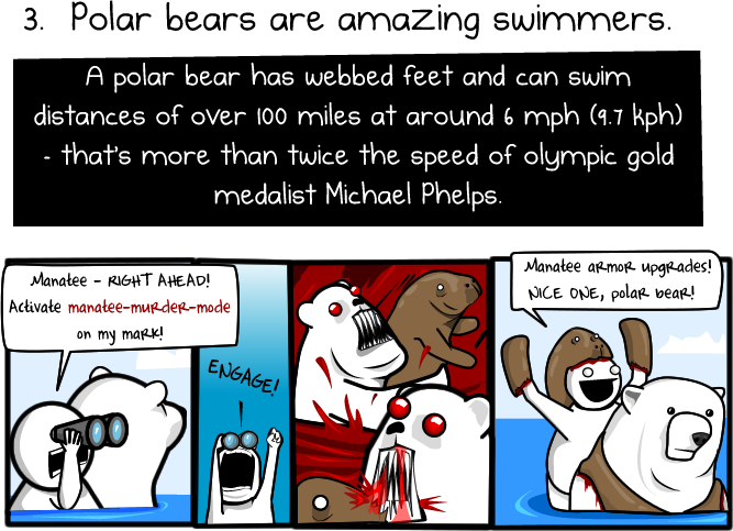 3 - 6 reasons to ride a polar bear to work