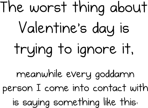 3 - the worst things about valentine's day