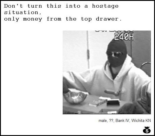 30 - demand notes from real bank robbers