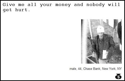 37 - demand notes from real bank robbers