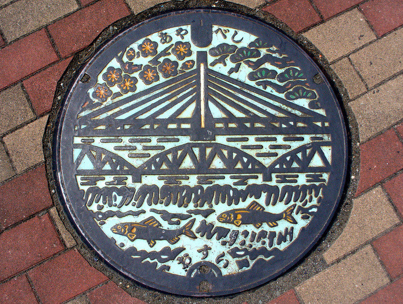 3ze07go - the beauty of japan's artistic manhole covers