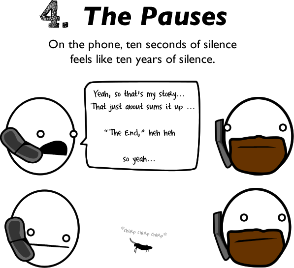 4 - 10 reasons to avoid talking to people on the phone.