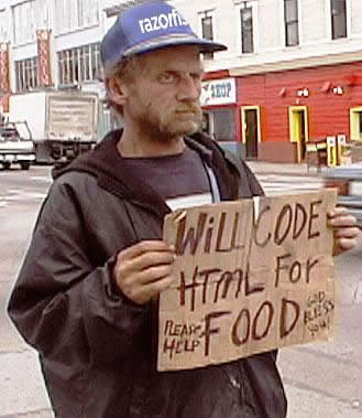 4 - homeless people with funny signs