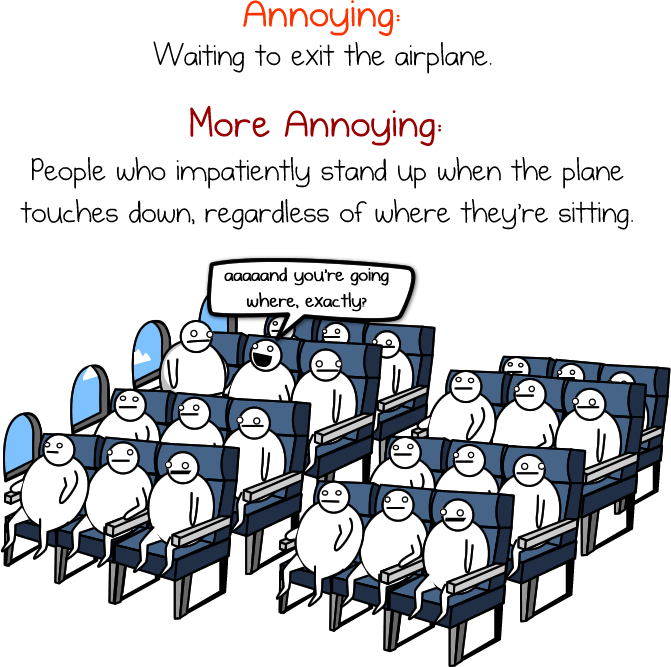 4 - the crap we put up with on an airplane