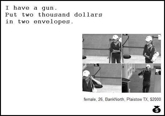 49 - demand notes from real bank robbers