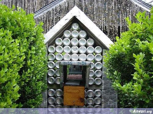 5 - house built from beer cans