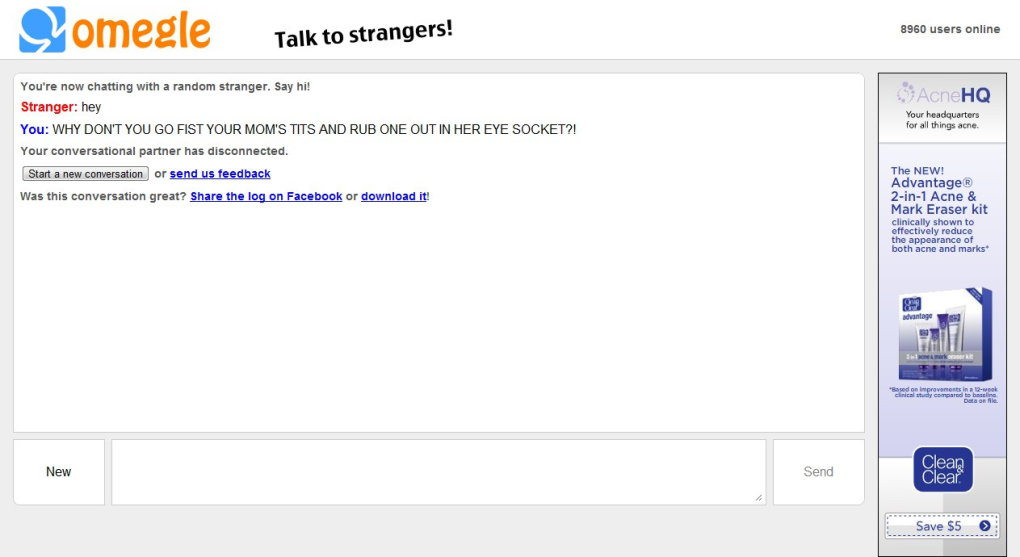 5 - why do i have such a hard time on omegle??