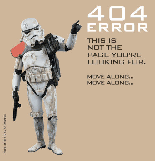 501st - some of the best 404's