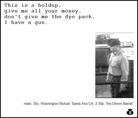 51 - demand notes from real bank robbers