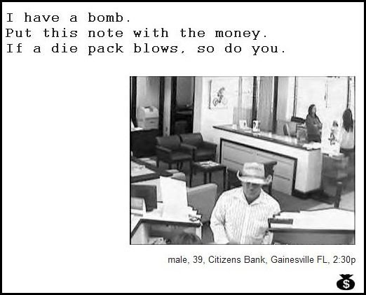 54 - demand notes from real bank robbers