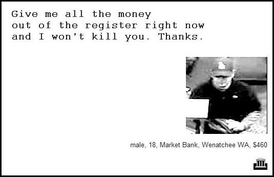 55 - demand notes from real bank robbers