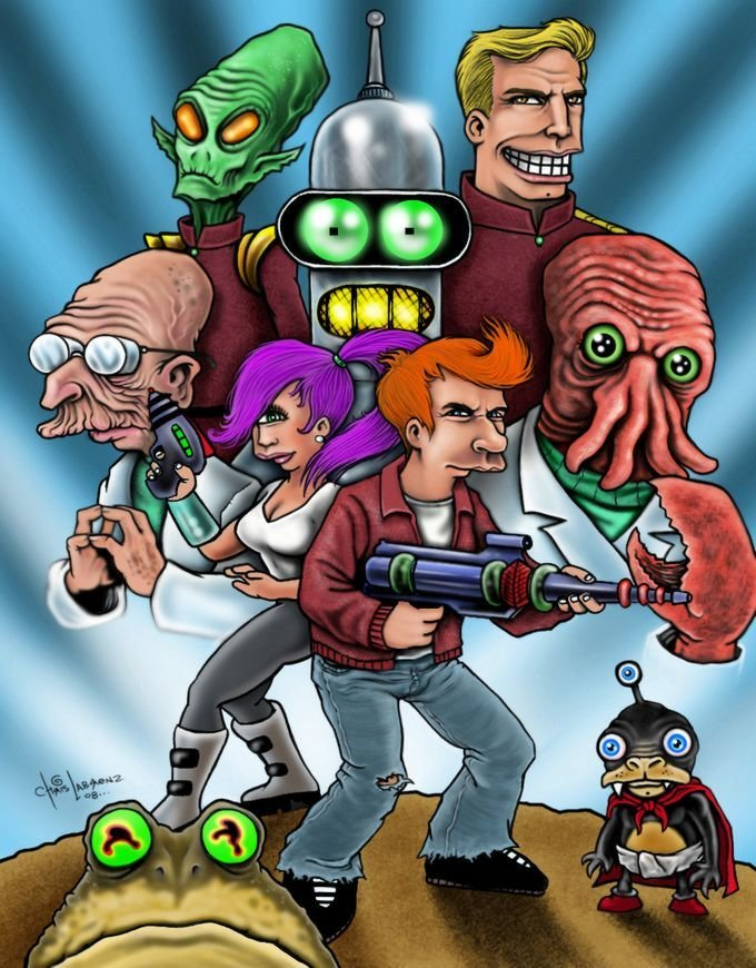 5f - futurama fan art